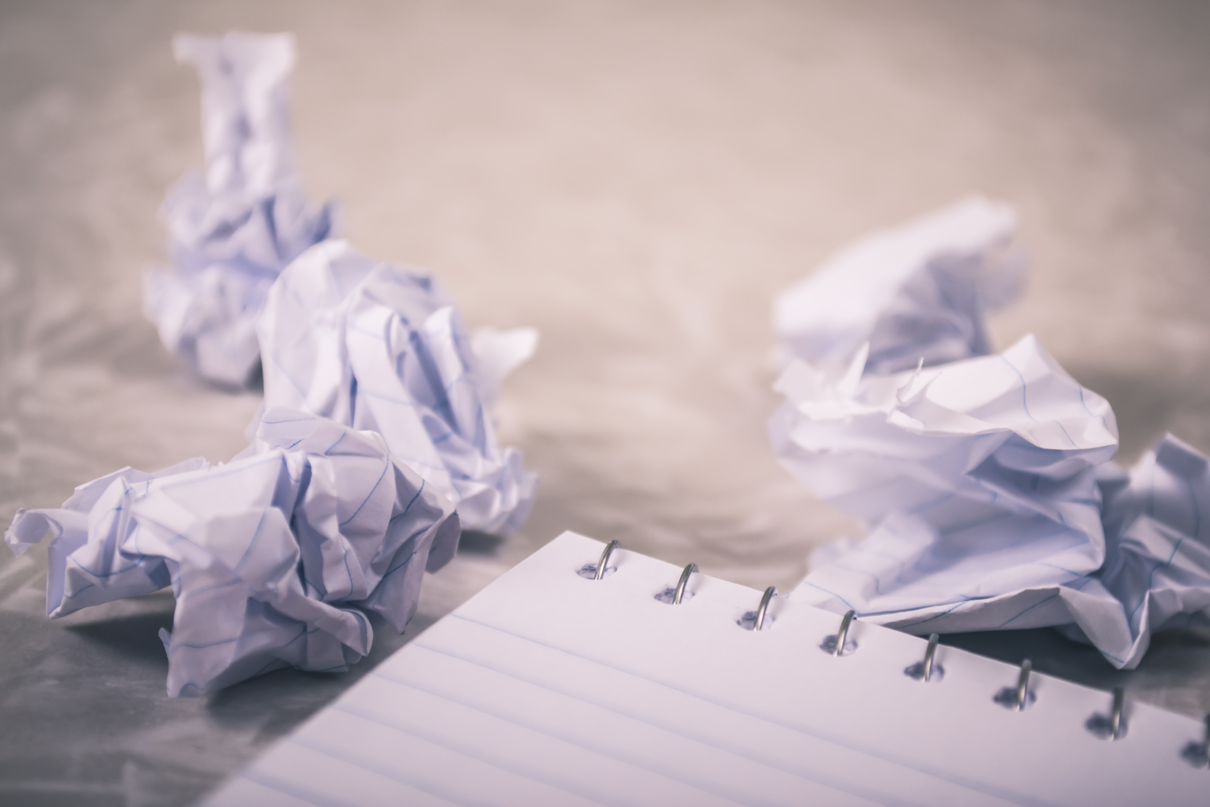 Second-guessing ideas are a sign of writer's block