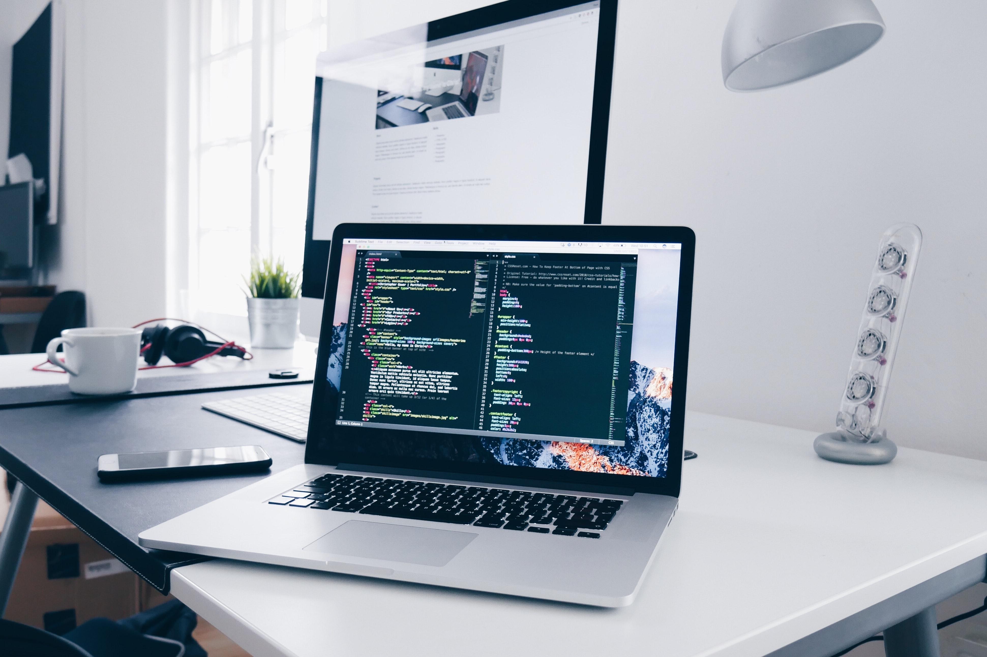 Roofing website design being worked on by Algorithmic Global web developer