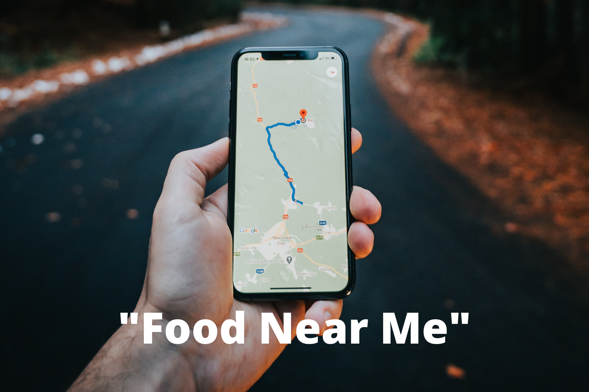 map showing food near me