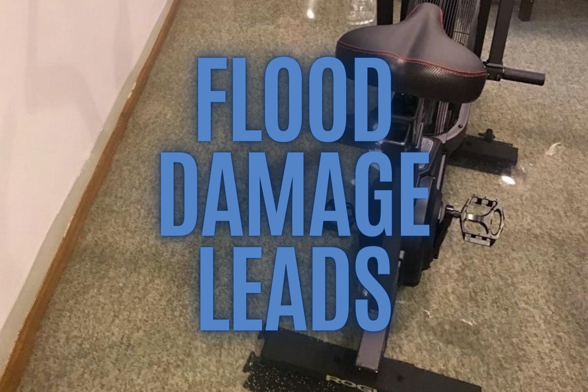 Flood damage leads
